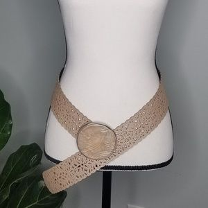 Chico's Accessories - Chico's belt large buckle lace leather